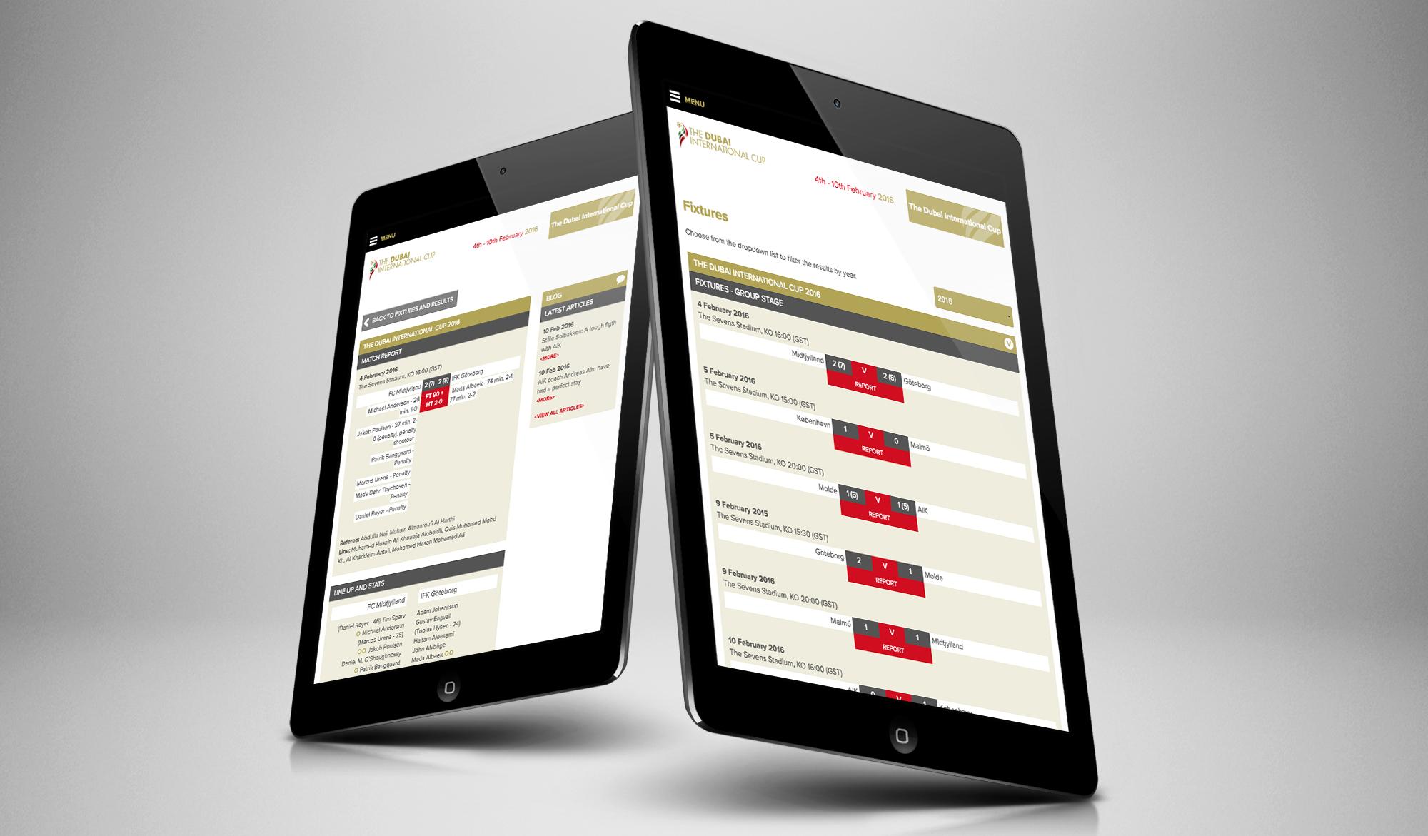 The Dubai International Cup tablet