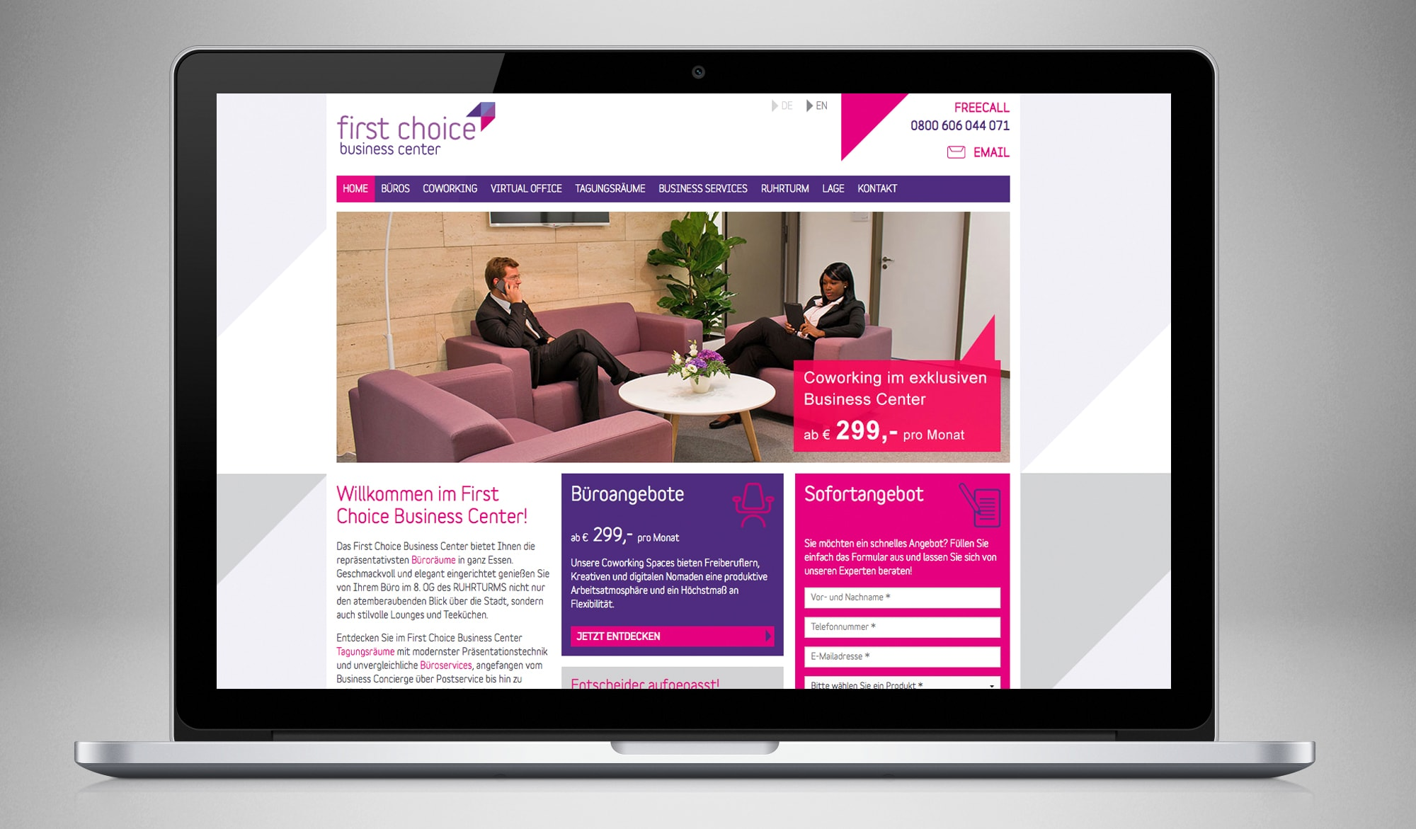 First Choice Busienss Centre - website