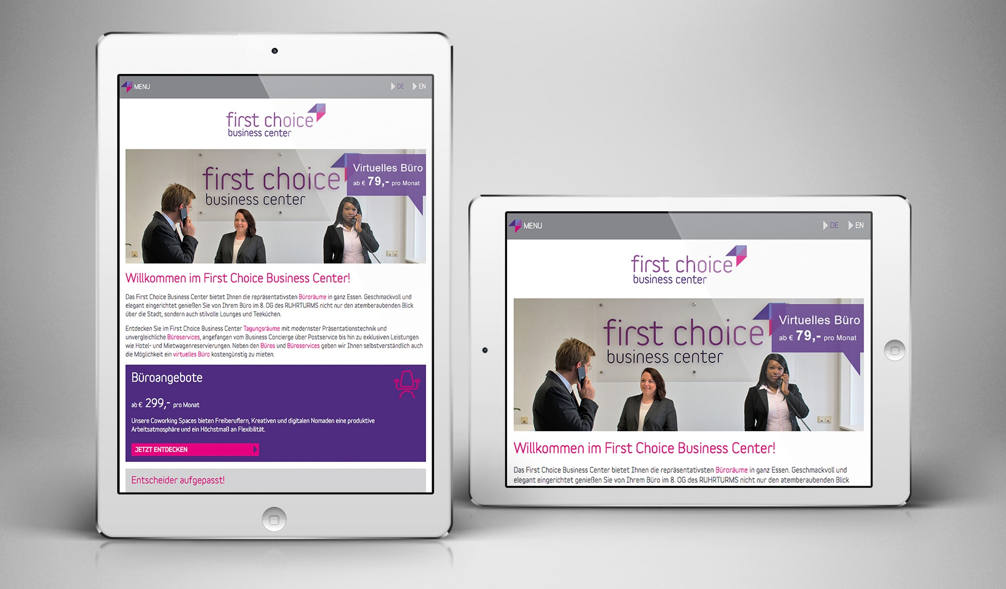 First Choice Busienss Centre - tablet