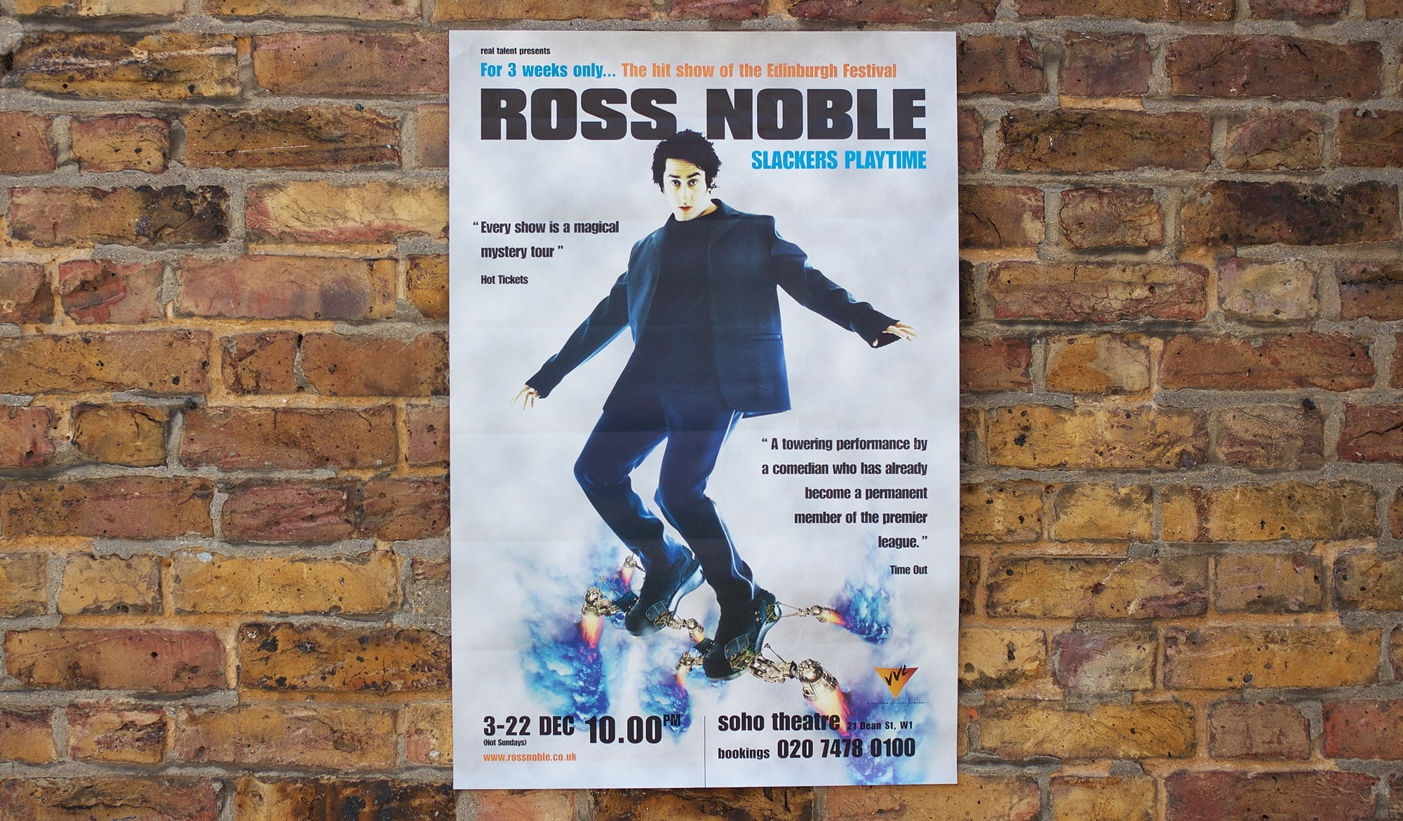 Ross Noble tour poster