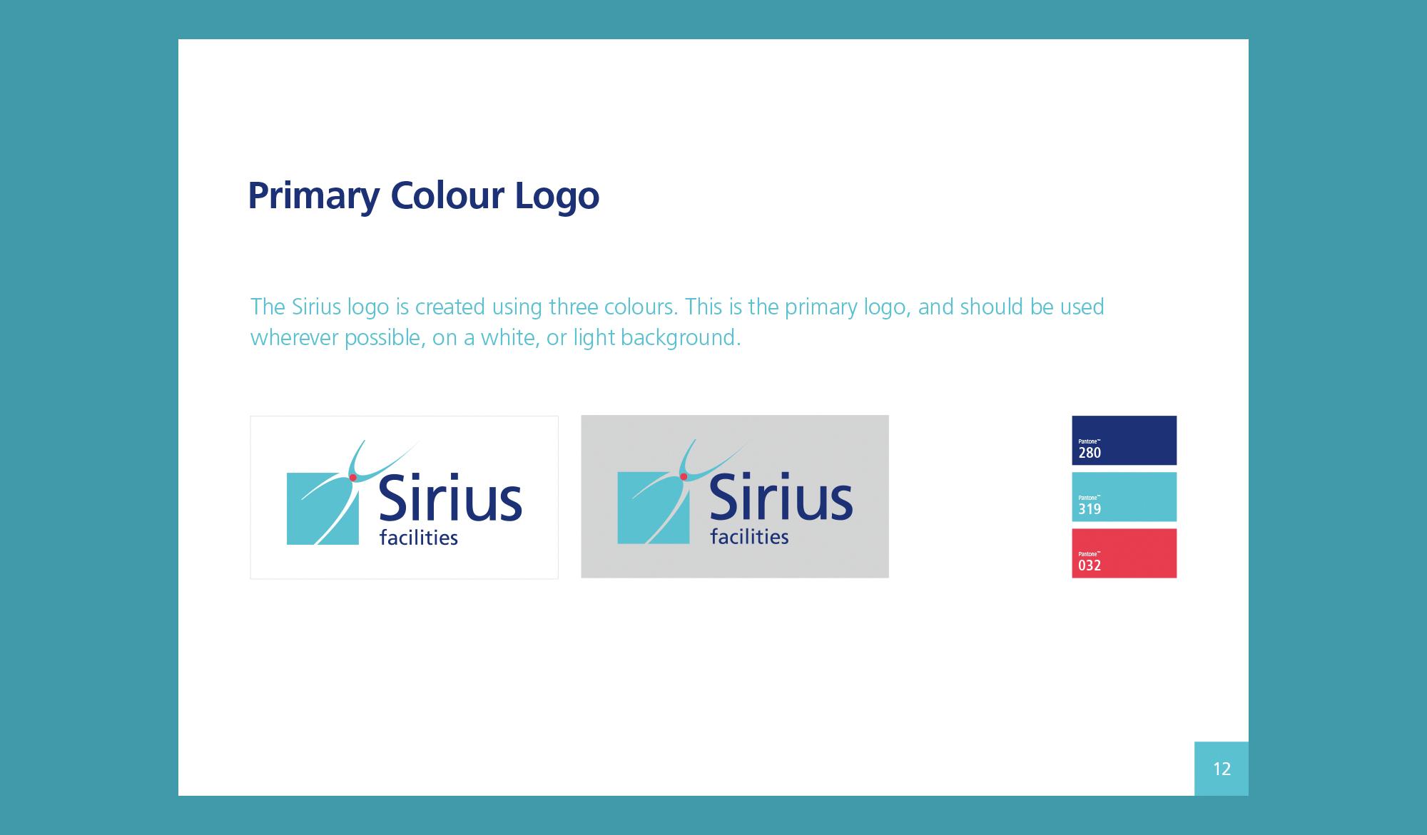 Sirius Facilities Brand Identity Brochure