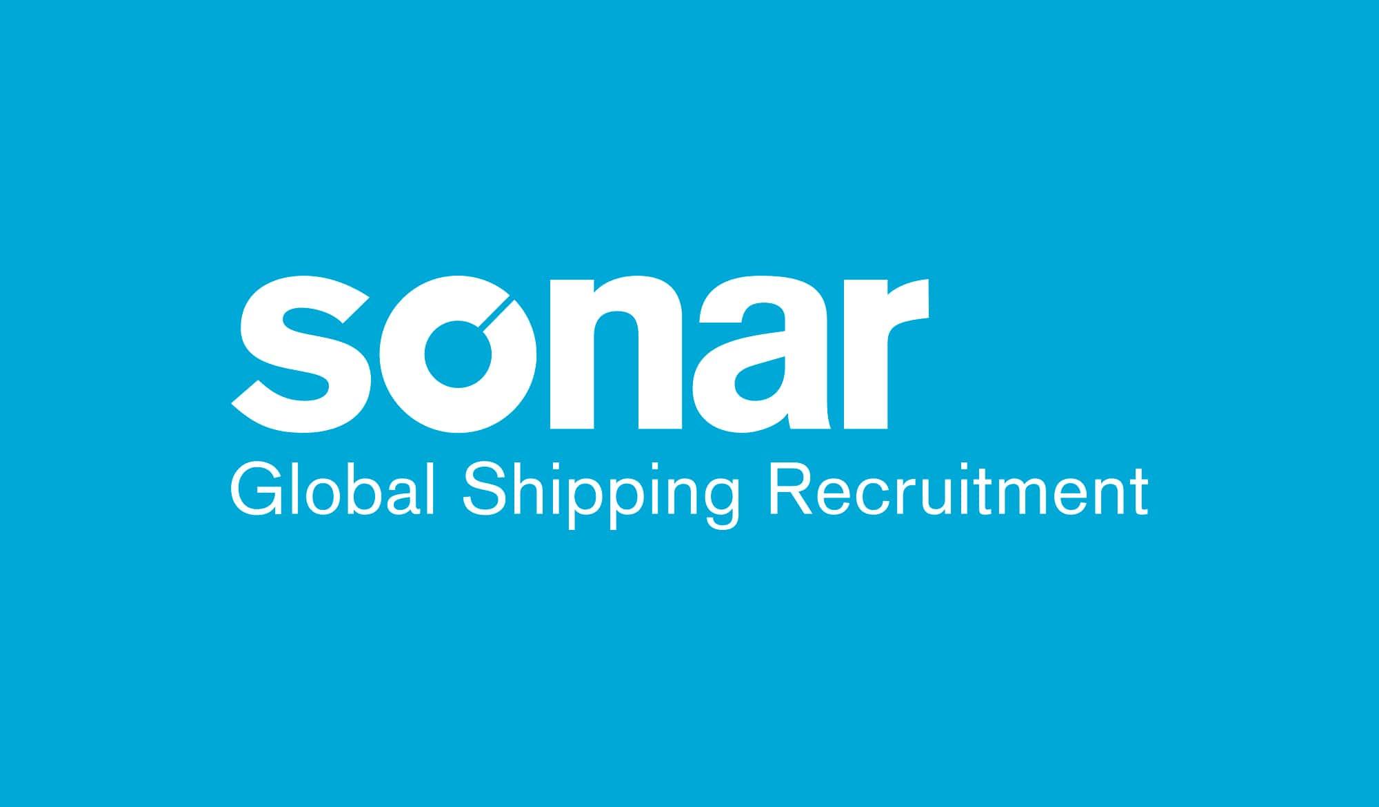Sonar recruitment logo reversed out