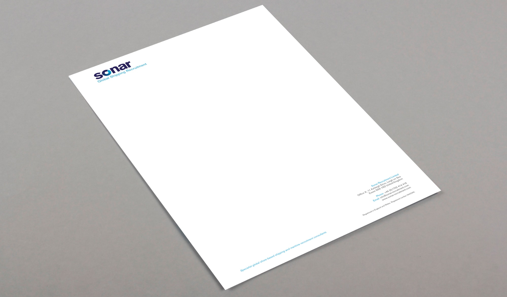 Sonar recruitment stationery