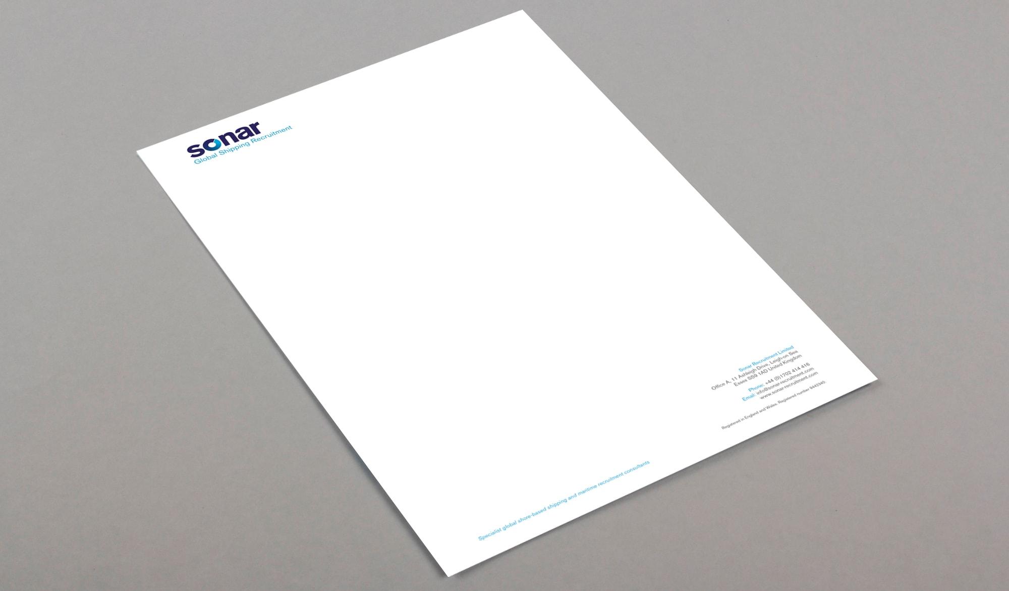 Sonar recruitment stationery