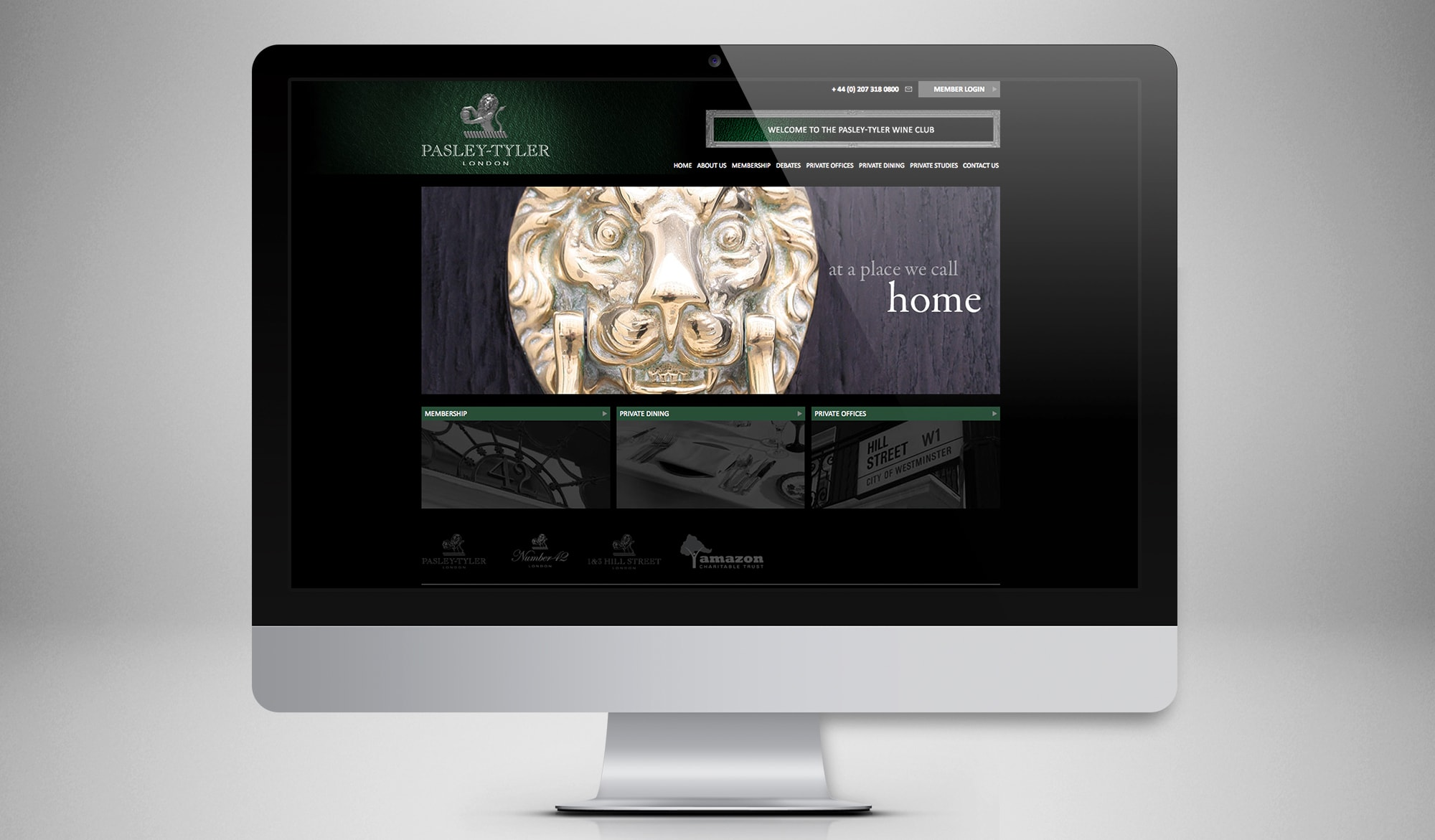 Pasley Tyler - website homepage