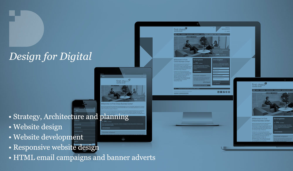 Design for digital, website design
