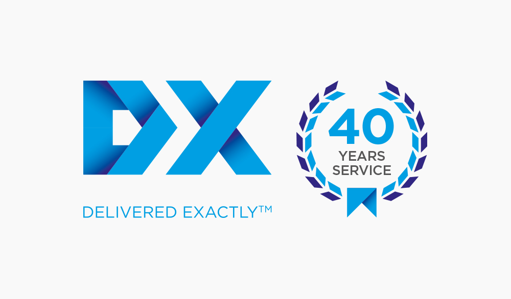 DX 40 year logo